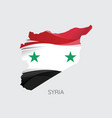 map of syria vector image vector image