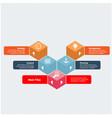 modern business polygon infographics image vector image
