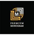 Modern template monogram emblem logo Symbol of vector image vector image