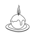 ornamental candle icon image vector image vector image