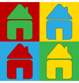 Pop art home icons vector image