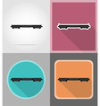 railway transport flat icons 01 vector image vector image