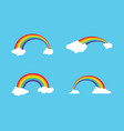 rainbow icon template vector image