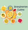 scandinavian cuisine tasty dinner icon design vector image vector image