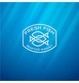 seafood market logo vector image vector image