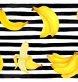 seamless pattern markers painting bananas on vector image