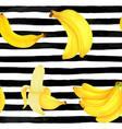 seamless pattern markers painting bananas vector image
