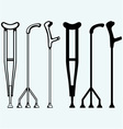 Set crutches vector image