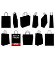 set of different shopping bags vector image vector image