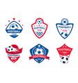 set soccer or football club logos football vector image vector image