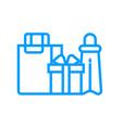 shopping bags icon vector image