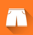 simple mens swimsuit icon swimming trunks vector image