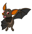 smiling bat cartoon posing vector image vector image