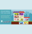 solar batteries for home vector image vector image