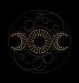 triple moon magic and astronomy vecor symbol vector image vector image