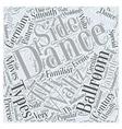 Types of Ballroom Dancing Word Cloud Concept vector image