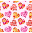 Valentine Hearts Background Low Poly vector image vector image