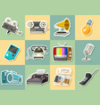 vintage devices icons retro tech media vector image vector image