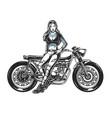 vintage motorcycle concept vector image