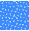 White WiFi icons on blue seamless pattern vector image vector image