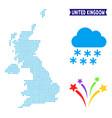 winter united kingdom map vector image