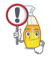 with sign bottle spray in the character form vector image