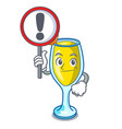 with sign mimosa character cartoon style vector image vector image