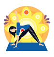 woman yoga sport exercise vector image vector image