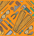 woodworking tool set background vector image