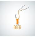 beer glass bottle menu background vector image
