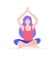 woman doing yoga flat isolated vector image