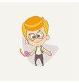 funny cute character of a young boy vector image