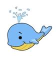 Cartoon Whale - vector image