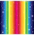 rainbow striped backdrop and snow vector image