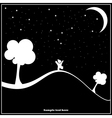 a child walking in the night vector image vector image