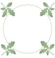 a wreath several oak green leaves summer vector image vector image