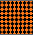 abstract black and orange square seamless backgrou vector image vector image