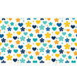 abstract polka dot traditional floral pattern vector image