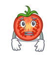 afraid cartoon fresh tomato slices for cooking vector image
