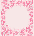 background from silhouettes flowers vector image vector image