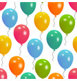 balloons party seamless pattern vector image vector image