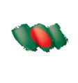 bangladesh flag on a white vector image