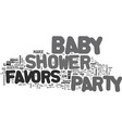 bashower party favor text word cloud concept vector image vector image