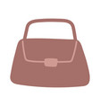 brown bag female accessory isolated design icon vector image
