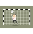 businessman goalkeeper blocking shoot vector image