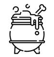 cauldron line vector image