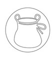 chalk bag climb icon vector image