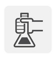 chemical lab icon vector image vector image