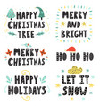 Christmas lettering set hand drawn quotes