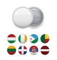 clip badge and world flags vector image vector image